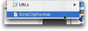 Clear Text Formatting on OS X