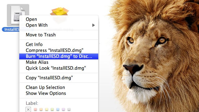 Burn The Mac App Store Version of OS X Lion to a DVD