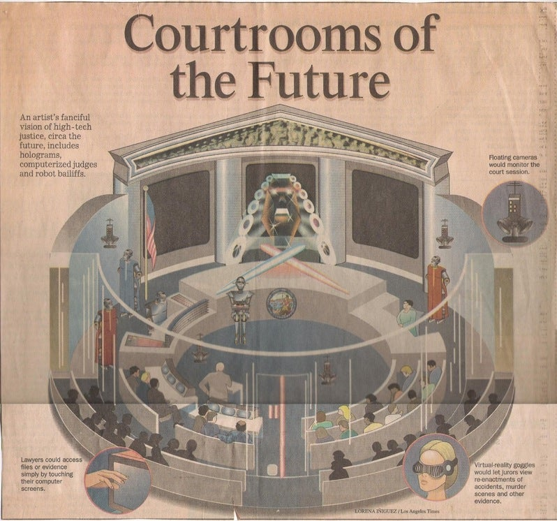 The Robotic Courtroom of Tomorrow
