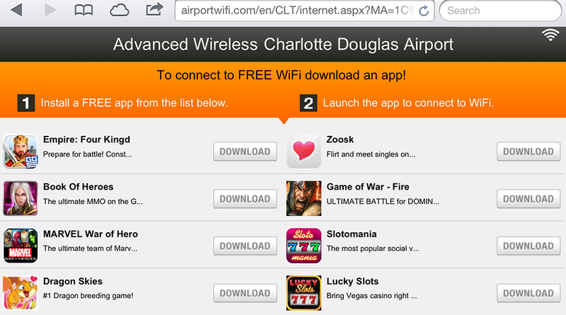 This Airport's 'Free' Wi-Fi Will Only Cost Gamers Their Dignity