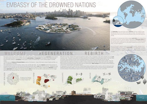 The Embassy of Drowned Nations, a home for refugees of rising seas