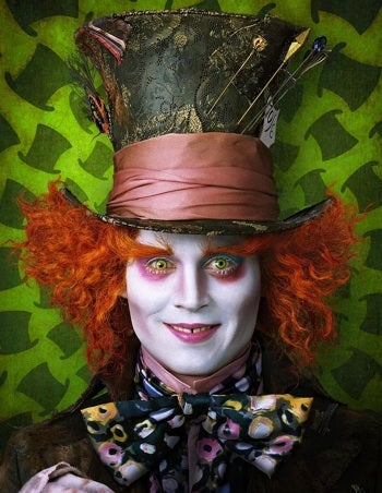See Johnny Depp Looking Crazy In Alice in Wonderland Starting Tomorrow