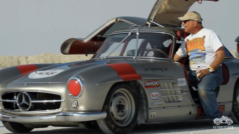 Would You Race An Original Mercedes Gullwing On The Salt Flats?