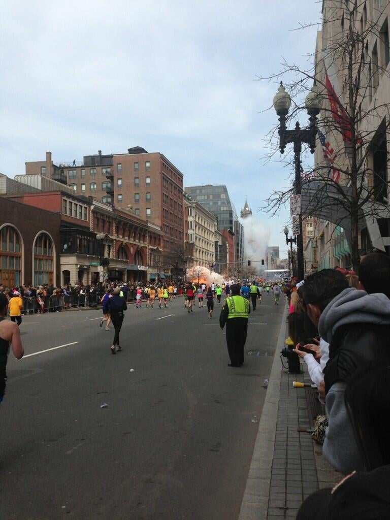 Before Explosion Boston Explosions at The Boston