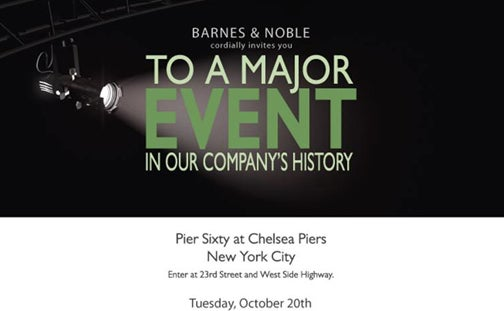 "Barnes & Noble ""Major Event"" Next Tuesday"