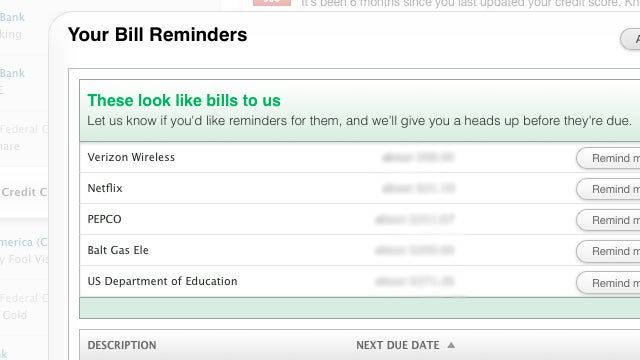 Mint's New Bill Reminders Help You Stay on Top of Upcoming Expenses