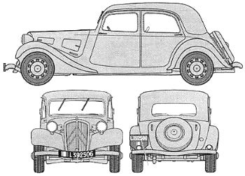 Citroën Blueprint Drawings!