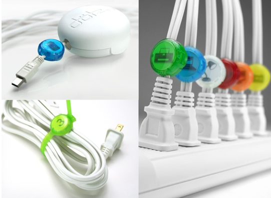 Cordotz Candy-Colored Cord Management System