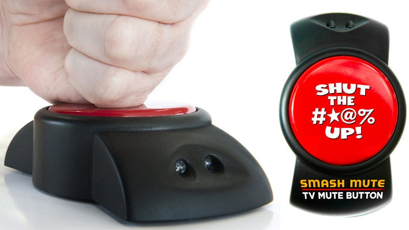 Giant Smashable Mute Button Silences Commercials With a Vengeance