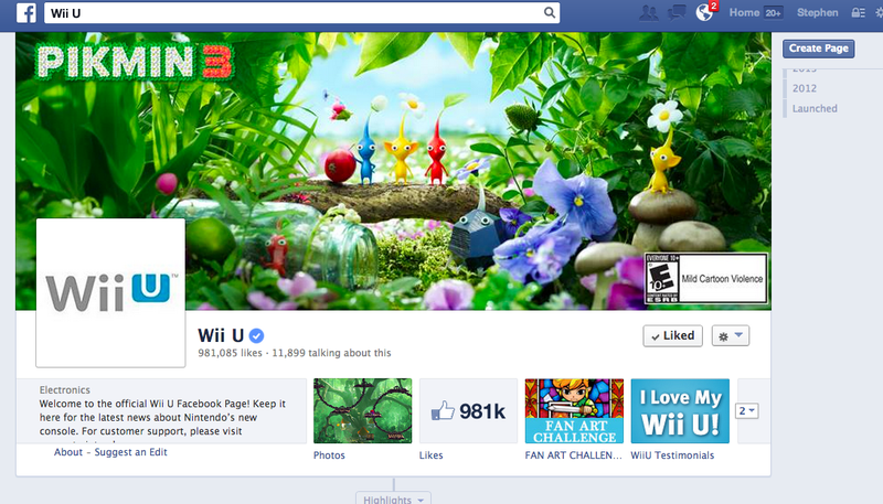 Nintendo's Official Wii U Facebook Page Gets A Weird Name Change