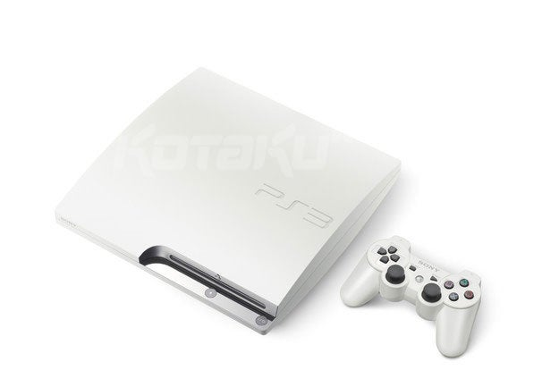 PS3 Slim Goes White, HDD Increases To 320GB