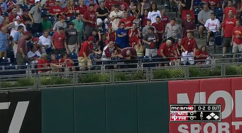 Fan Hit In Head By Scorched Home Run Ball