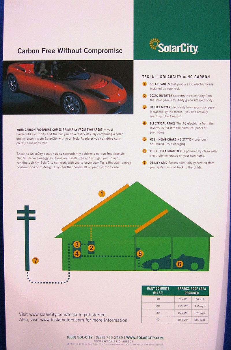 Solar City Teams Up With Tesla for Solar-Powered Sports Car Driving