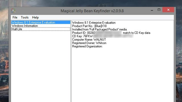 Magical Jelly Bean KeyFinder Finds Product Keys for All Your Programs