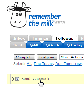 How Do I Email Remember the Milk Tasks to a Specific List?