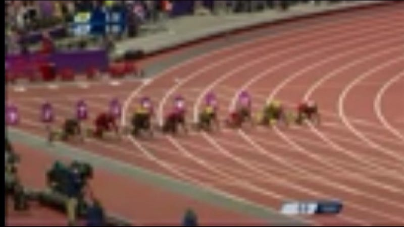 Take A Look At NBC's Feed Of Usain Bolt's Record Setting 100m Performance