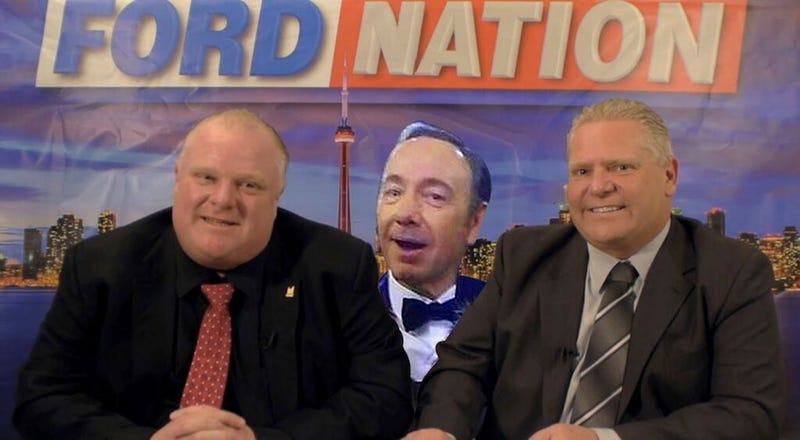 Kevin Spacey Tips Hat to Rob Ford; Ford Has No Idea Who Spacey Is