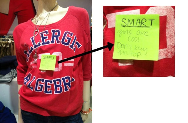 Forever 21 Sells 'Allergic To Algebra' Shirt For Girls