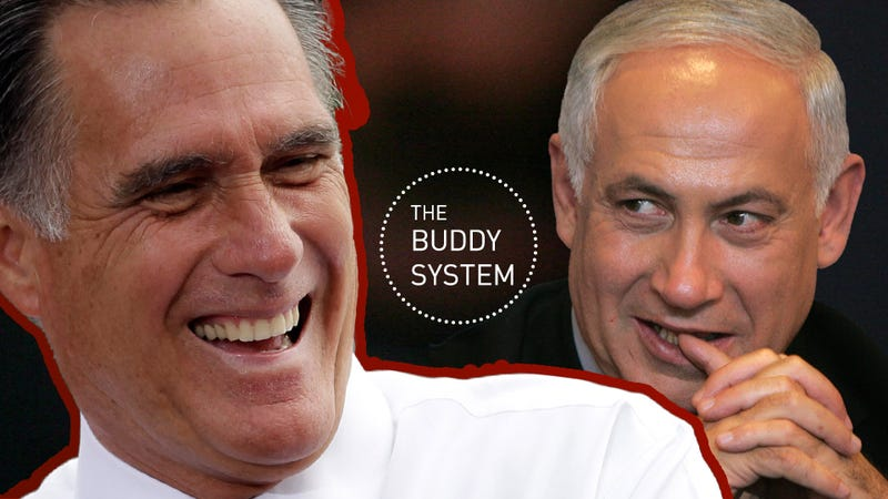 Romney and Bibi: Middle East Policy By Two Best Buds Walkie-Talkiing After Bedtime