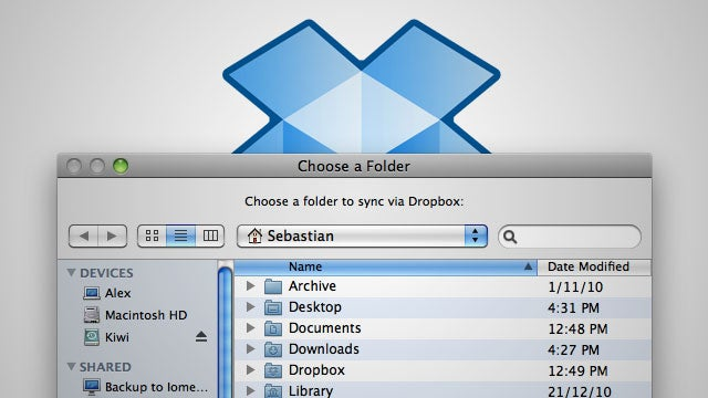 MacDropAny Syncs Local Folders with Your Dropbox Account