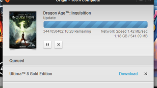 Dragon Age: Inquisition will be ready to play in only 3.4 billion hours!