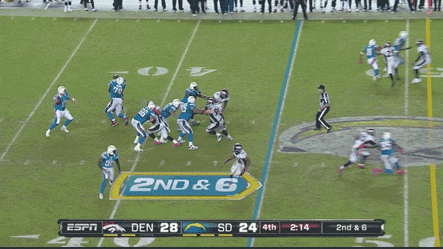 The Chargers Gave The Game To The Broncos: Denver-San Diego, In A GIF