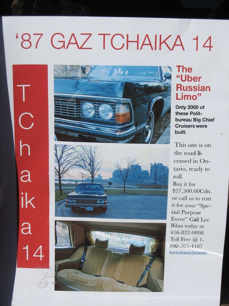 Toronto Resident Rides Like A Politburo Big Chief In His GAZ Tchaika 14