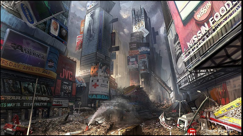Times Square Is Less Of A Hassle After Aliens Blow It Up