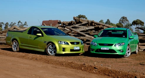 PUTC Sets Up Aussie Sh-Ute-Out Between Holden VE And Ford Falcon FG, We Demand Dibs On Round Two!