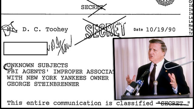 "FBI Docs: George Steinbrenner Thought The FBI Was The ""Nearest Thing To Perfection"""