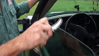 Hone a Knife on the Rough Edge of a Vehicle Window