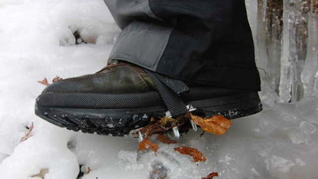 DIY Removable Cleats Keep You from Slipping on the Hard Winter Ice