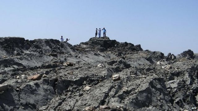 Pakistan's new mud volcano is spewing flammable gas