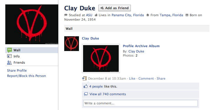 The Facebook Suicide Note of School Board Shooter Clay Duke