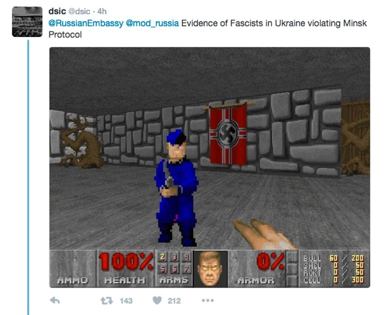 Russia Just Tweeted a Video Game Screenshot to Show Chemical Weapons Trucks