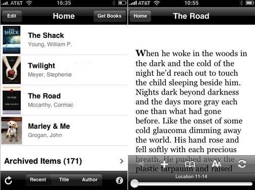 Amazon Kindle Now Also an iPhone App