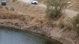 Rally Crew Missing For 17 Minutes After Driver Crashes Into Lake