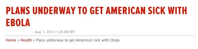 Why You Shouldn't Freak Out About Ebola Patients Coming to the U.S.
