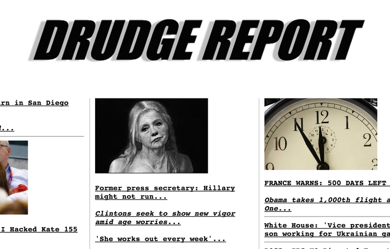 Drudge Depicts Hillary Clinton With Half-Naked Photoshop