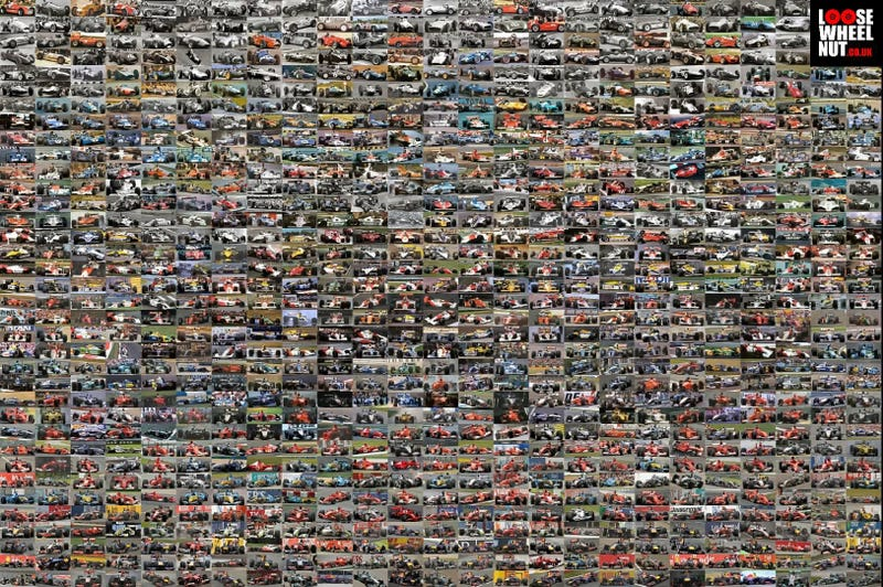 All 900 F1 winning cars in one picture.