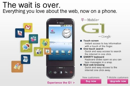 T-Mobile G1 Available in Retail Stores Nationwide Today