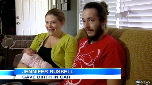 Man Films His Wife Giving Birth in the Car While He Drives