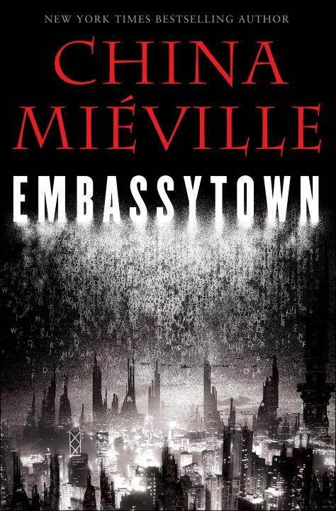 It's raining alphabet soup, in the cover for China Miéville's next novel