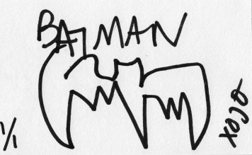 Artists draw Batman with their eyes closed