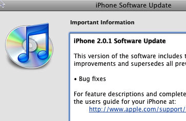 iPhone 2.0 Software Update Out