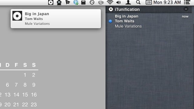 iTunification Displays Notification Center Alerts for iTunes and Spotify Tracks
