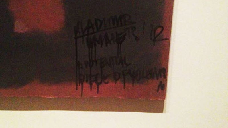 Pretentious Idiot Defaces Rothko, Would Be Horrible Boyfriend