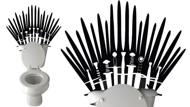 Game Of Thrones Wall Decal Makes Your Toilet Fit For A