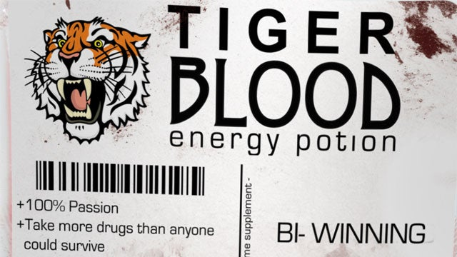 Tiger Blood Energy Potion Brings Out The Raving Lunatic Actor In You