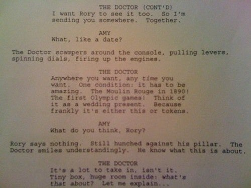 OMG Doctor Who Script Page!!!
